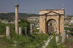 Gerasa-Ruinen, Jerash, Jordanien Lizenzfreies Stockfoto