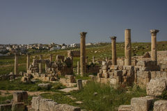 Gerasa ruins, Jerash, Jordan. Jerash is the site of the ruins of the Greco-Roman city of Gerasa stock photos