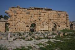 Gerasa ruins, Jerash, Jordan. Jerash is the site of the ruins of the Greco-Roman city of Gerasa Royalty Free Stock Photos