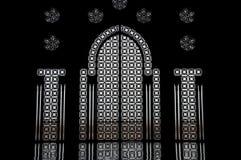 Geraspt venster in Marokkaanse moskee Royalty-vrije Stock Afbeeldingen