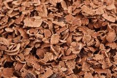 Geraspte chocolade Stock Afbeelding