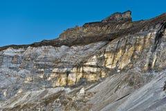 Gerbats font une pointe vu du cirque de Troumouse en montagnes de Pyrénées Photos libres de droits