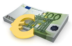 gerbe de l'euro 4 Photographie stock