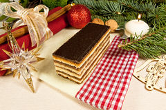 Gerbeaud traditional Hungarian cake 2 Royalty Free Stock Images
