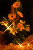 Gerber daisy bouquet. With romantic light stock photos