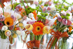 Gerbera και παραλλαγή των λουλουδιών, ανθοδέσμη Στοκ Εικόνα