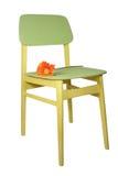 gerbera стула деревянный Стоковые Фотографии RF