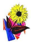artistic Gerbera flower isolated Stock Photo