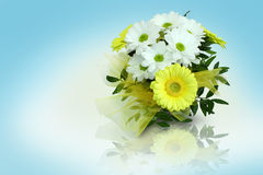 Gerbera bouquet. In the background Stock Images