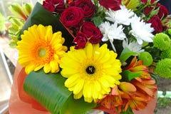 Gerbera flowers in a bouquet Stock Photo
