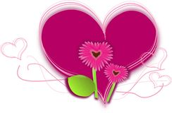 Gerbera pink heart Stock Photo