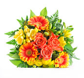 Gerbera and roses bouquet Stock Photography