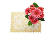 Gerbera van stoffenbloemen stock fotografie
