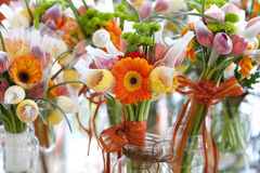 Gerbera and Variation of flowers, bouquet Stock Photos