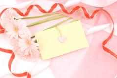 Gerberagänseblümchen und -zeichen Lizenzfreies Stockfoto