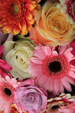 Gerberas and roses in bridal bouquet Royalty Free Stock Photography