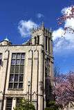 Gerberding Hall. Is a replica of a castle in Europe, located at the university of Washington, in Seattle, Washington, USA Royalty Free Stock Image