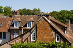 Gerberoy - bricks and timber houses Royalty Free Stock Photos