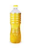 Oil in a bottle isolated on a white Royalty Free Stock Images