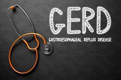 GERD - Text on Chalkboard. 3D Illustration. Royalty Free Stock Photo