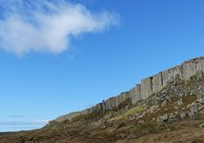 Basalt cliffs at Gerduberg, Iceland Royalty Free Stock Image