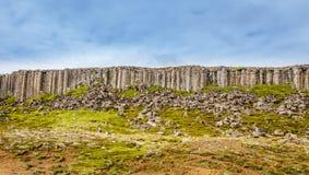 Gerduberg dolerite cliffs  basalt rock formation, Snæfellsnes, Stock Photography