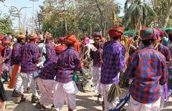 Gere-Tanz der Stammes- Gesellschaft auf holi Festival Lizenzfreies Stockbild
