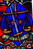 Gerechtigkeit - Buntglas Lizenzfreie Stockfotos