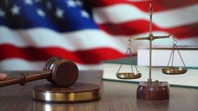 Gerechtigkeit für die Vereinigten Staaten von Amerika stock video footage