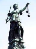 Gerechtigkeit Fountain bei Roemerberg, Frankfurt am Main Stockfotografie