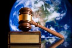 Gerechtigkeit-Hammer Stockfoto