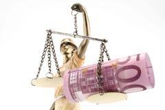 Gerechtigkeit ist blind (? oder möglicherweise nicht) lizenzfreie stockfotografie