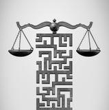 Gerechtigkeit Legal Solution Vektor Abbildung