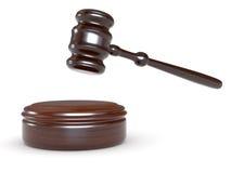 Gerechtigkeithammer Lizenzfreies Stockfoto