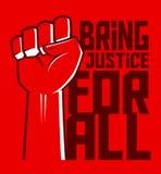 Gerechtigkeits-For All Hand-Plakat Stockfoto