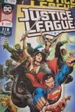 Gerechtigkeits-League-Superheldcomic-bücher lizenzfreie stockfotografie
