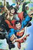 Gerechtigkeits-League-Superheldcomic-bücher stock abbildung