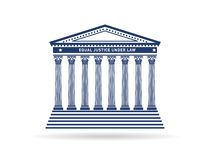 Gerechtigkeitsgerichtsgebäude-Bildlogo Stockbilder