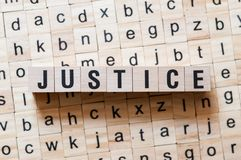 Gerechtigkeitswortkonzept stockfoto