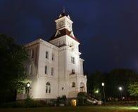Gerechtsgebouw bij Nacht Royalty-vrije Stock Afbeeldingen