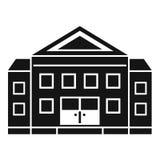 Gerechtsgebouw de bouwpictogram, eenvoudige stijl vector illustratie