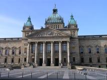 Gerechtsgebouw Leipzig royalty-vrije stock afbeelding