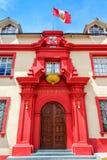 Gerechtsgebouw in Puno, Peru Stock Foto