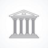 Gerechtsgebouwpictogram Royalty-vrije Stock Afbeelding