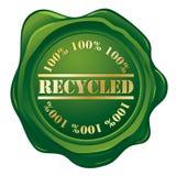 Gerecycleerde groene zegel Stock Foto's
