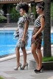 Gerecycleerde kleren Stock Foto's