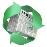 Gerecycleerde krant Stock Foto