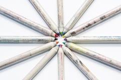 Gerecycleerde potloden Royalty-vrije Stock Fotografie