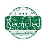 Gerecycleerde rubberzegel Stock Foto