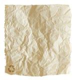 Gerecycleerde verfrommelde document geïsoleerdet zak stock afbeelding